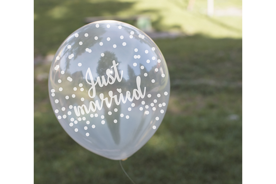 Palloncini_Just_Married_Wedding