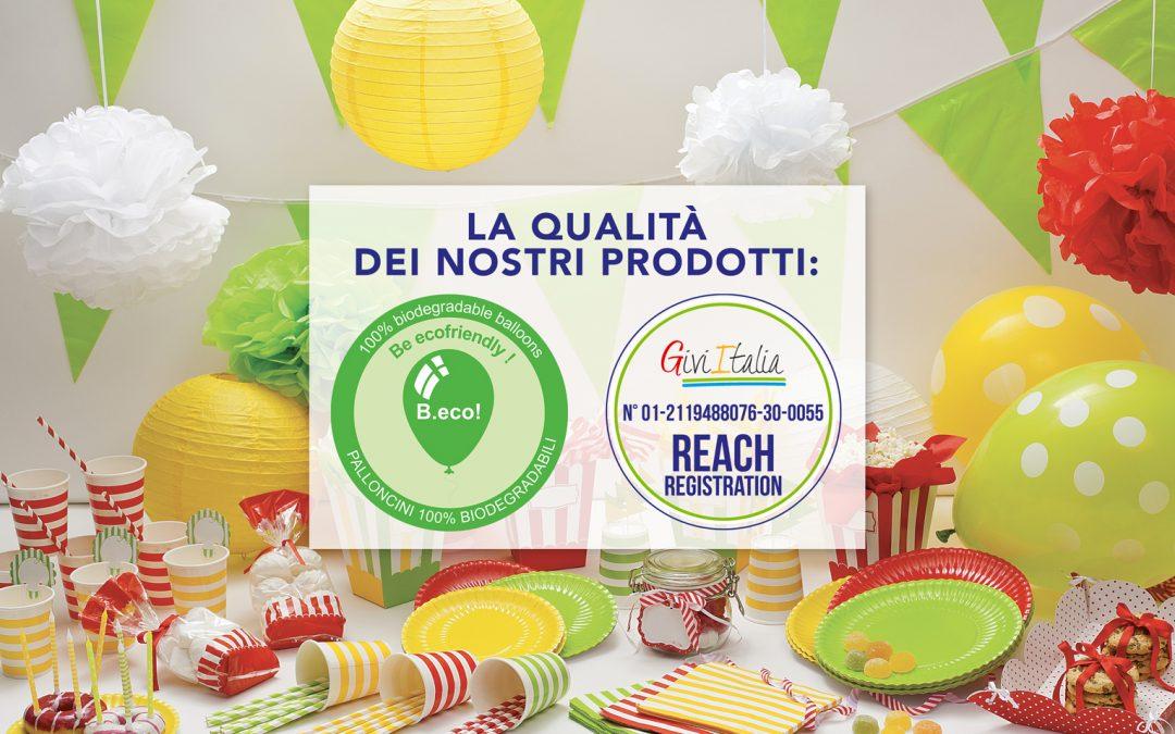 PALLONCINI E CANDELE PER FESTE: LE CERTIFICAZIONI DI QUALITA' GIVI ITALIA